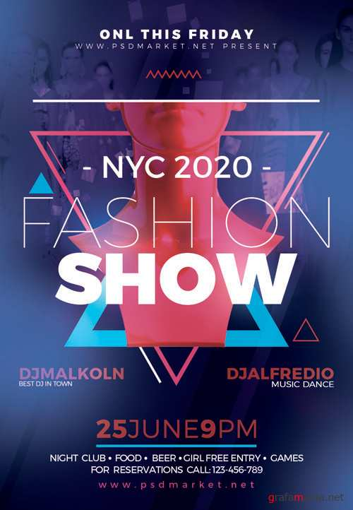 FASHION SHOW FLYER – PSD TEMPLATE