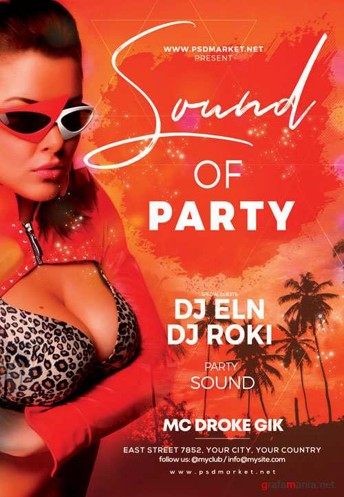 SOUND OF PARTY FLYER – PSD TEMPLATE