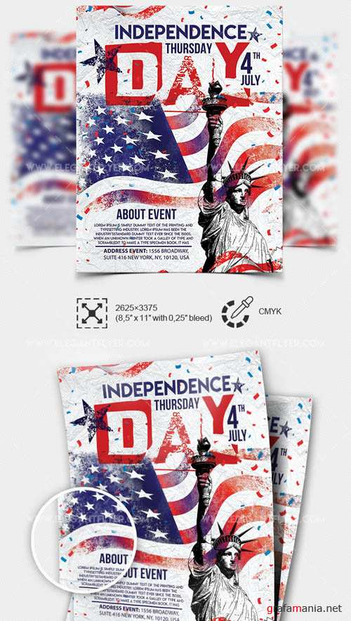 Independence Day V14 2019 Premium PSD Flyer Template