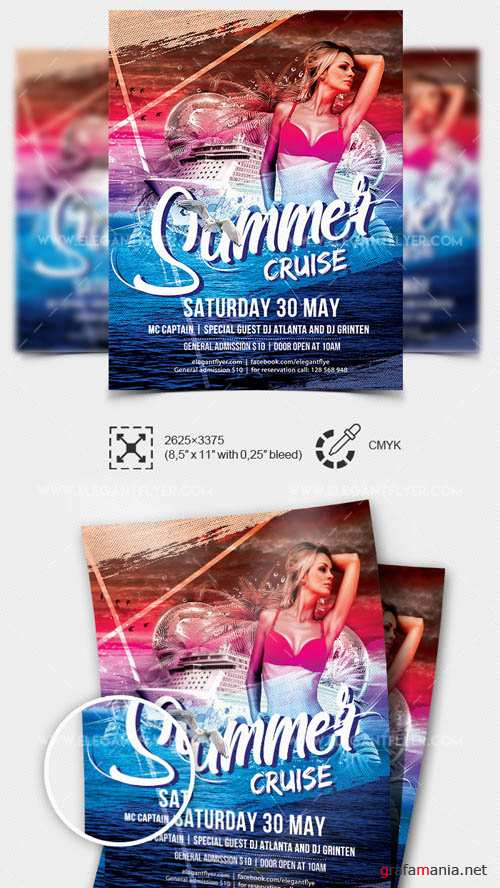 Summer Cruise V8 2019 Premium Flyer Template in PSD