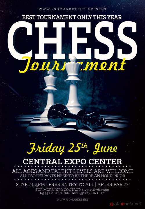 CHESS TOURNAMENT FLYER – PSD TEMPLATE