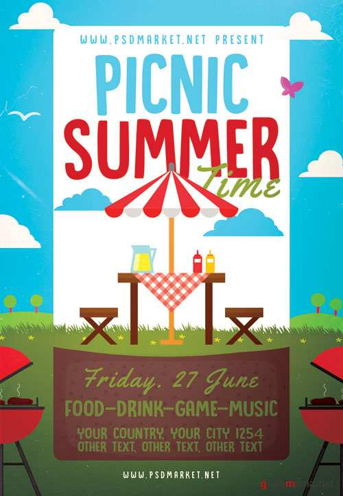 PICNIC TIME FLYER – PSD TEMPLATE