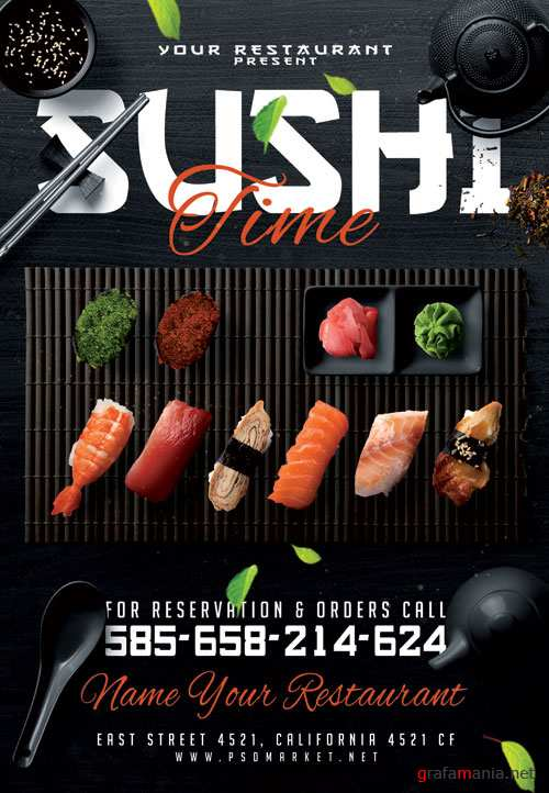 SUSHI FLYER – PSD TEMPLATE