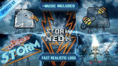 Neon Storm Logo Intro - After Effects Project (Videohive)