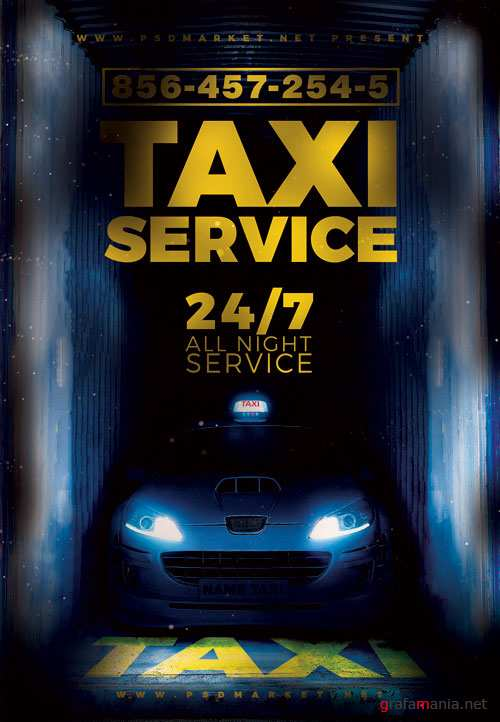 TAXI SERVICE FLYER - PSD TEMPLATE