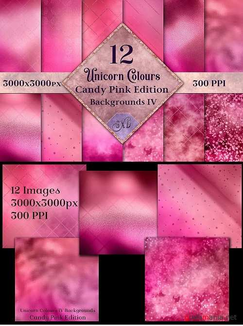 Unicorn Colours Backgrounds IV - Candy Pink Edition Textures - 271008