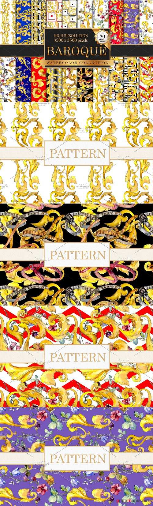 Patterns watercolor png - 3840774