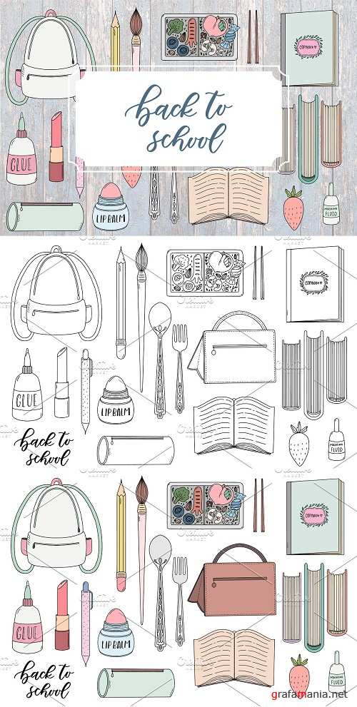 BACK TO SCHOOL. Cute doodle pack - 2845593