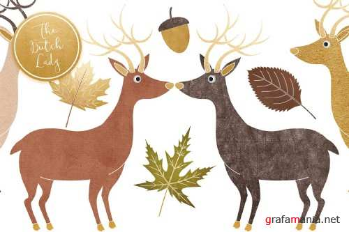 Fall Forest Clipart Set - 3858578
