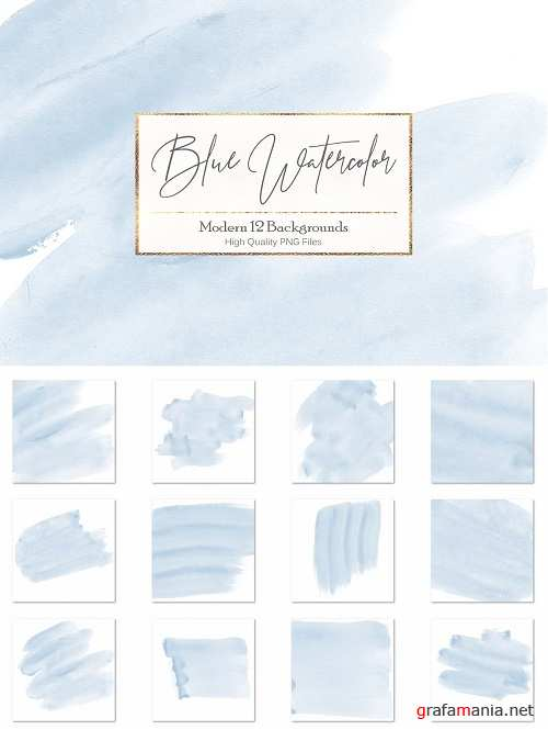 Blue Watercolor Backgrounds - 3059029