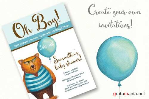 Bear in Sweater with Balloon! - 1098246