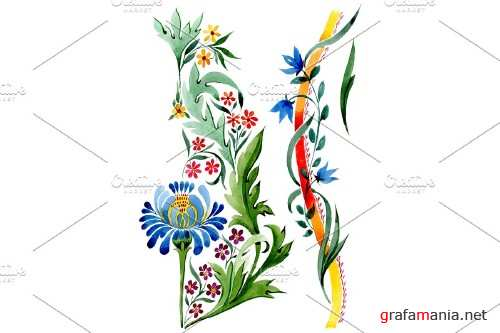 """Ornament floral """"Riddle"""" watercolor - 3869060"""