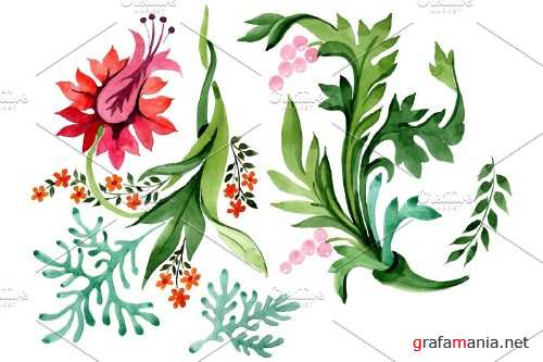 Eastern ornament watercolor png - 3868695