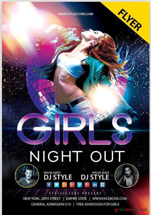 Girls Night Out V1 2019 Flyer PSD Template