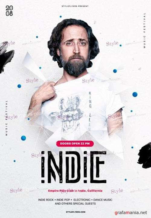Indie V1 2019 PSD Flyer Template