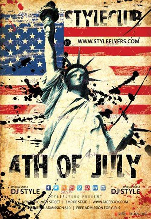4th Of July V14 2019 PSD Flyer Template