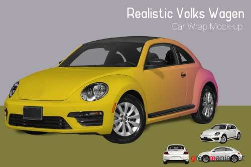 VW Car Wrap Mock-Up - 3883291