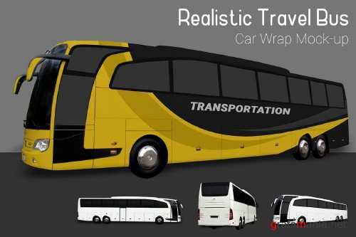 Travel Bus Mock-Up - 3882235