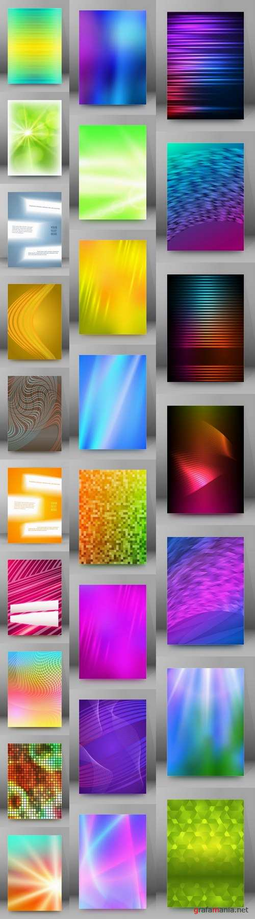 Vector banner picture card flyer poster invitation card 5-25 EPS