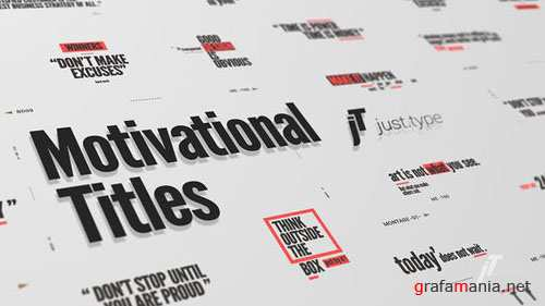 Just Type | Motivational Titles - After Effects Project (Videohive)