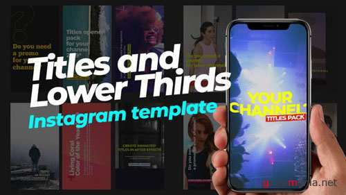 70 Instagram Stories | Titles and Lower Thirds - After Effects Project (Videohive)