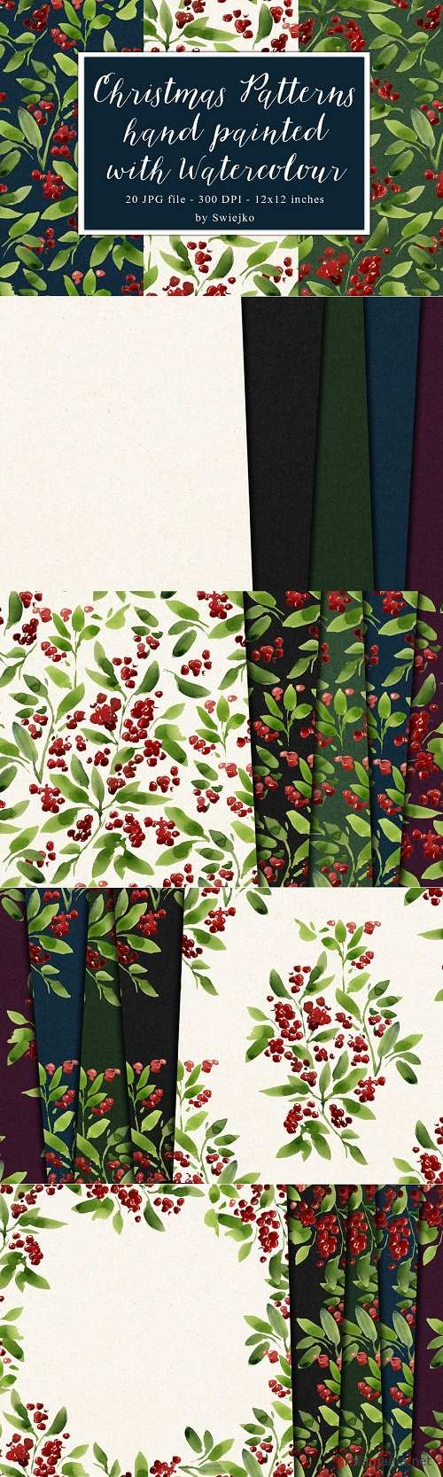 Watercolor pattern,christmas - 330991