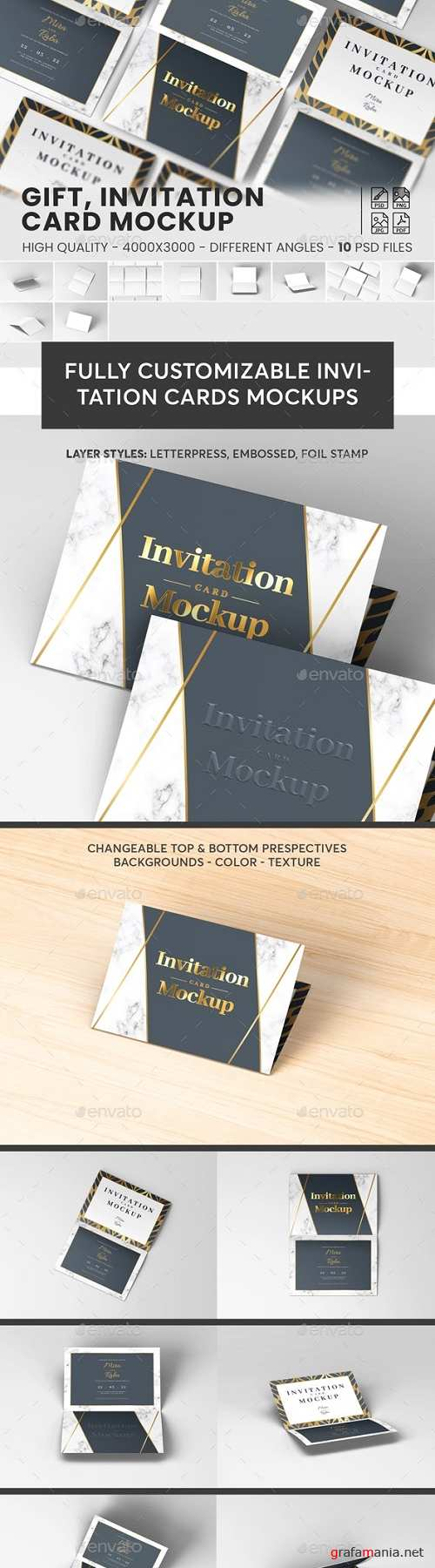 Greeting, Invitation Card Mockup 23643114