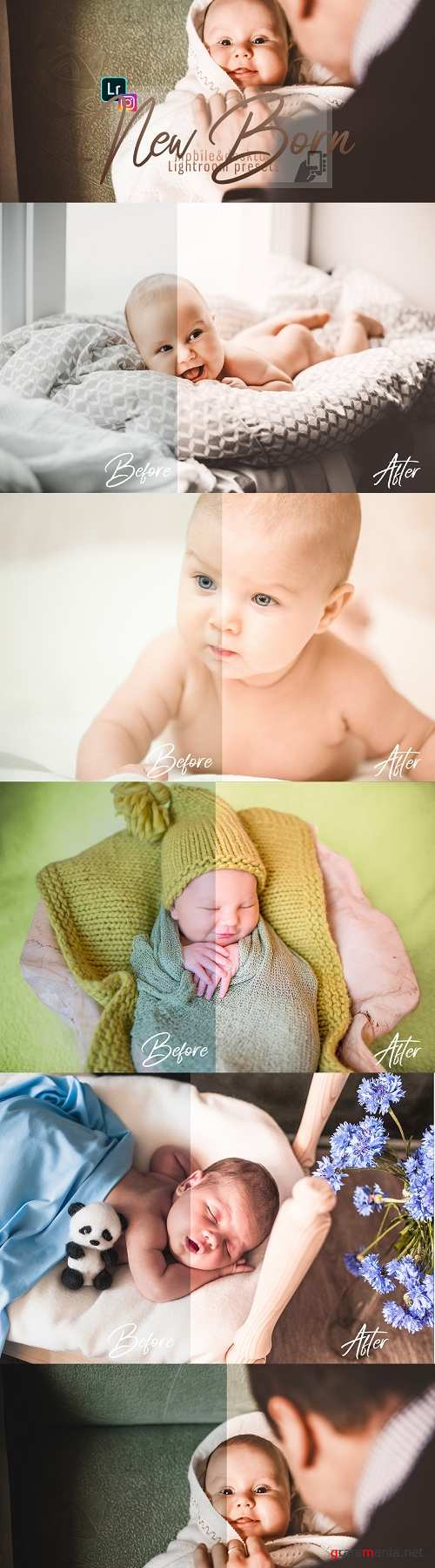 Download presets NewBorn Mobile & Desktop Lightroom Presets  - 269819