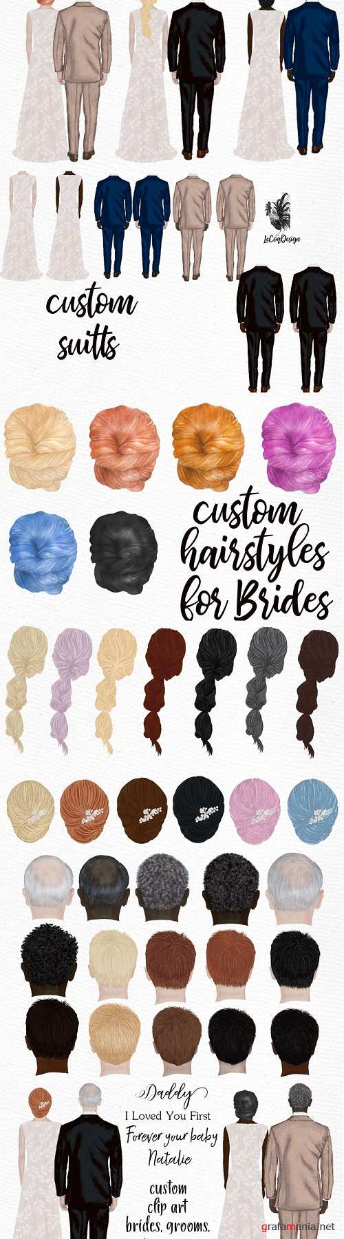 Bride and Groom Wedding clipart - 3833823