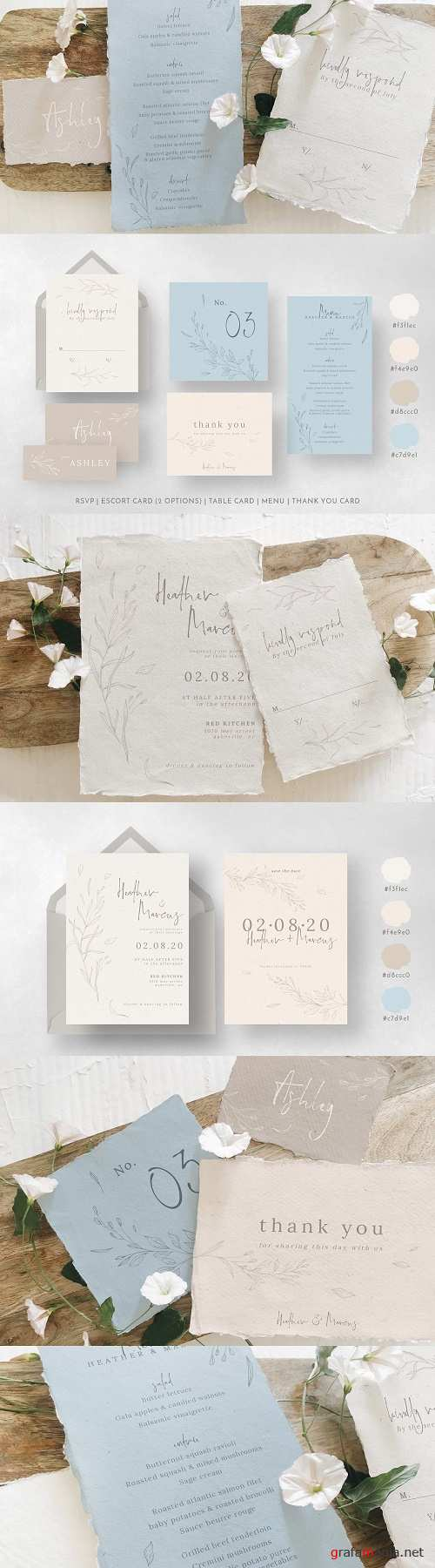 Rustic Ivory & Blue Wedding Suite - 3849807