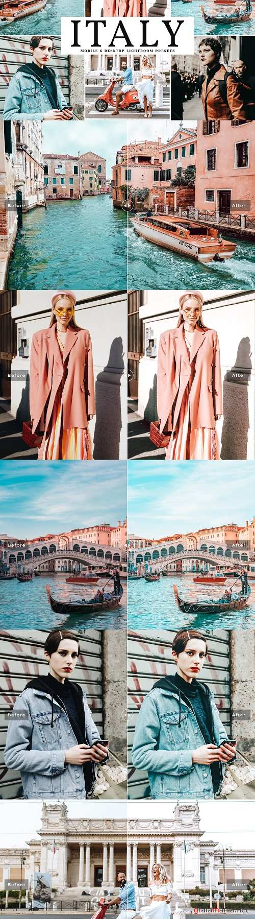 Italy Lightroom Presets Pack - 3884432
