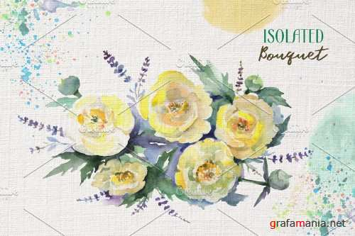 Bouquet with yellow flowers - 3903937