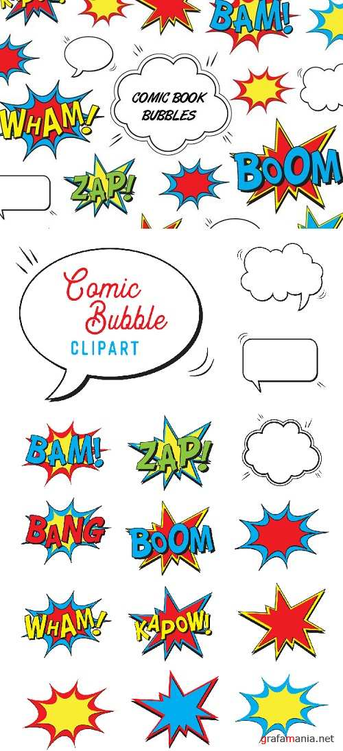 Comic Book Bubbles - 83917