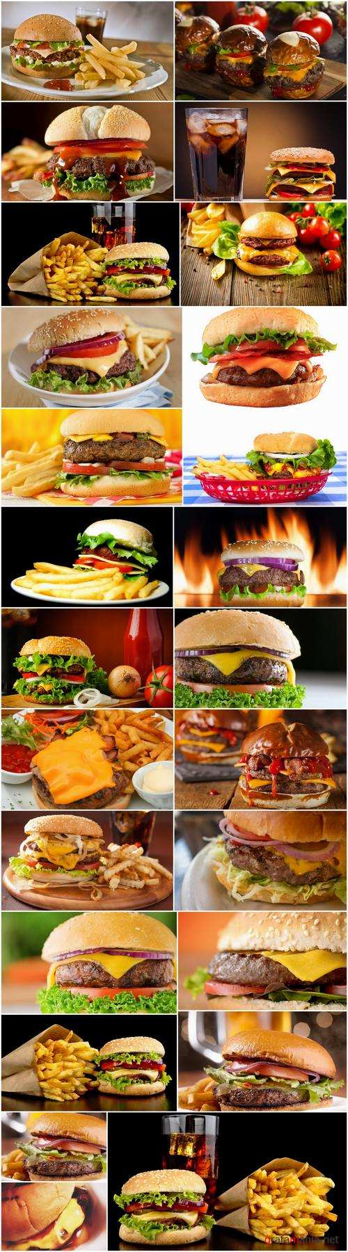 Cheeseburger fast food hamburger sandwich 25 HQ Jpeg