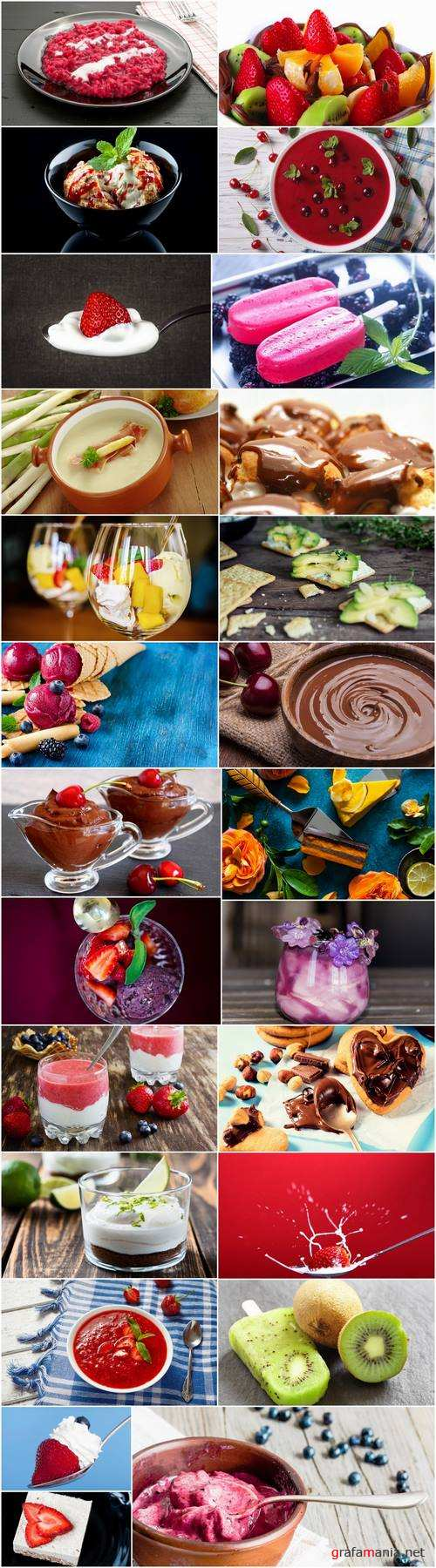 Ice cream cream curd dessert fruit milk 25 HQ Jpeg