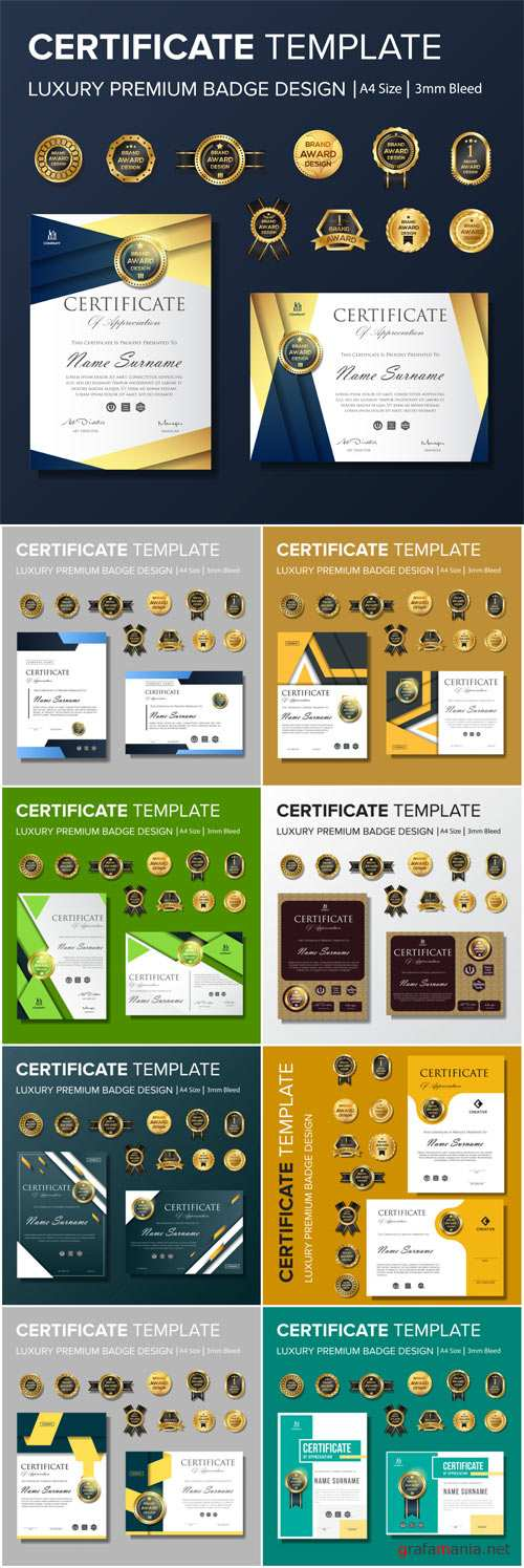 Professional Certificate design with badge multipurpose
