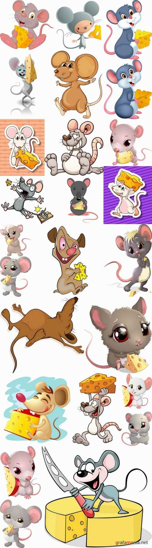 Mouse cheese mousetrap full stomach vector image 25 EPS