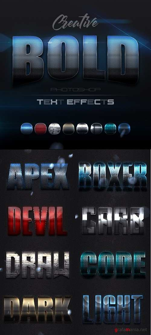 Creative Bold Text Effects Vol.1 - 24013393