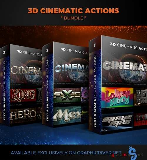 3D Cinematic Actions - Bundle 23986338