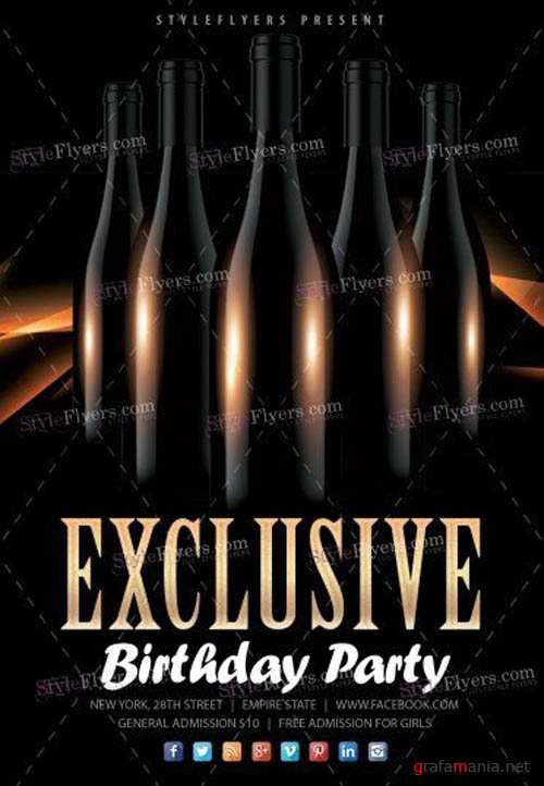 Exclusive Birthday Party V16 2019 PSD Flyer Template