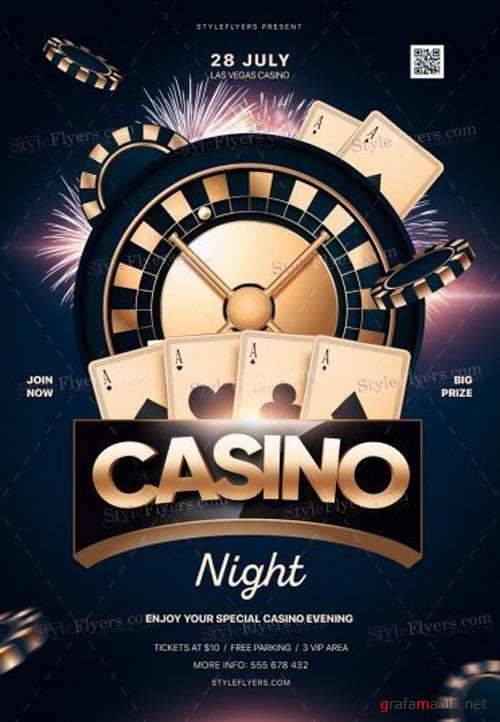 Casino Night V16 2019 PSD Flyer Template