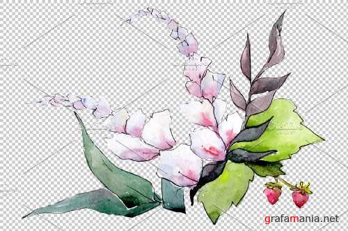 Bouquet Mrs. watercolor png - 3935759