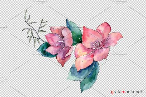 Bouquet Elegance watercolor png - 3941339