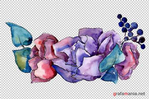 Bouquet Tender dreams watercolor png - 3950957