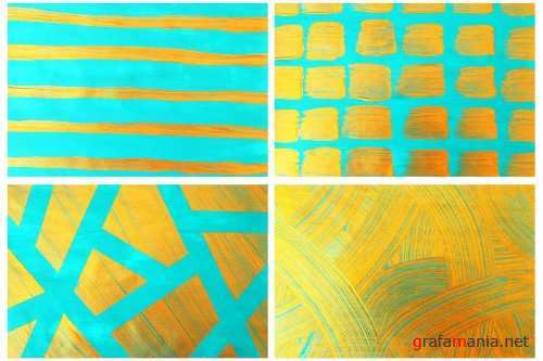 Blue & Gold Backgrounds - 3952289