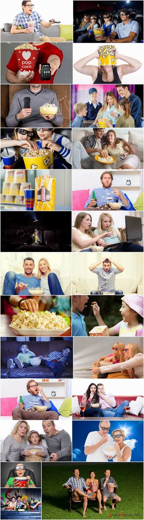 People who eat popcorn 25 HQ Jpeg