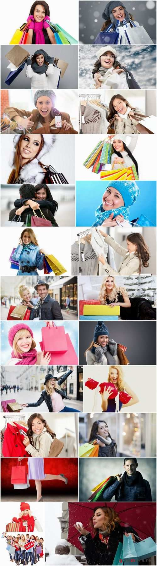 Beautiful girls with shopping bags 25 HQ Jpeg