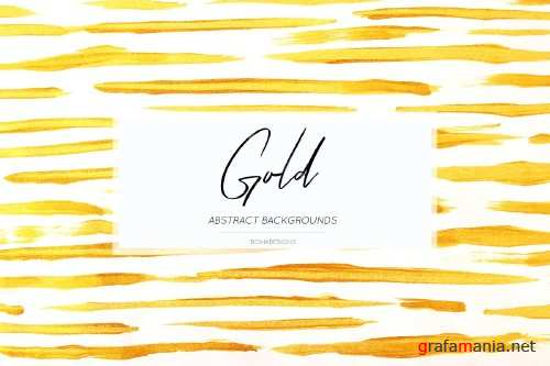 Gold Abstract Backgrounds, Textures - 3958849