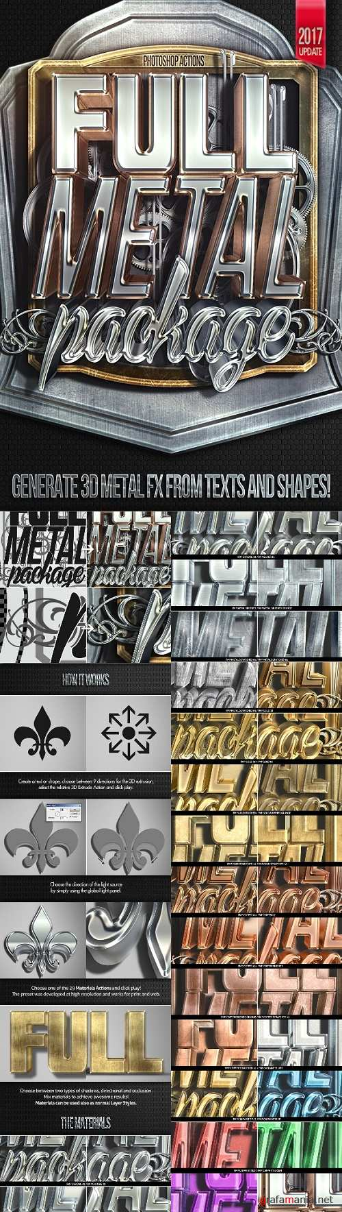 Full Metal Package 3D - Photoshop Actions - 7947591