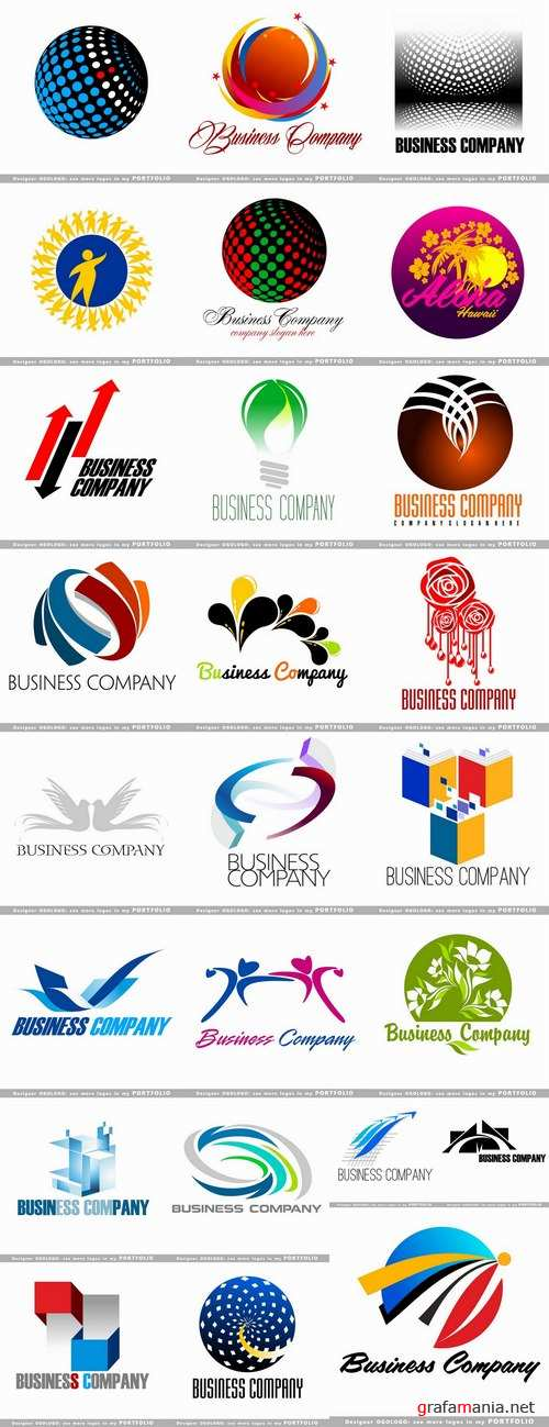 Different business logo 3-25 Eps